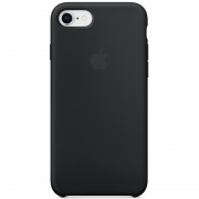 Apple siliconenhoesje iPhone 8 / 7 zwart MQGK2ZM/A