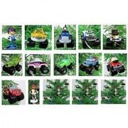 BLAZE and the Monster Machines MINI Christmas Ornament Set - Plastic Shatterproof Ornaments from 1 to 2 - Perfect for Small Desk Tree or Kids Tree
