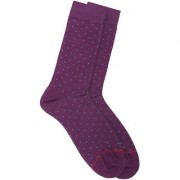 Soxytoes Dot It Down Purple Cotton Calf Length Pack of 1 Pair Polka Dot for Men Formal Socks (STS0025C)