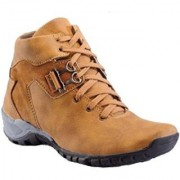 Big Fox Lace-up Casual Tan Synthetic TPR Boots For Men