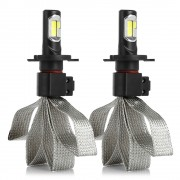 2 Ampoules LED phares H7 8000lm 72W S7 Canbus tresse - Blanc