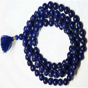 Original Blue Sapphire/Neelam Stone Mala For Astrological Purpose By Jaipur Gemstone