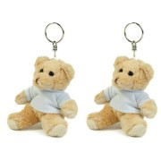 Mumbles Set van 6x stuks teddybeer/beren sleutelhangers 10 cm