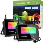 WiFi LED Прожектор Novostella 20W RGBCW - 2бр Комплект