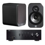 Pachete PROMO STEREO - Q Acoustics - 3020 + Yamaha A-S501 Matte Graphite
