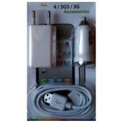 3in1 incarcator usb auto priza 220v pentru iphone 4 3g 3gs ipod