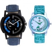 Attractive Almight Blue Line And Green Peacock Couple Casual SCK Analogue Wrist Watch By Google Hub