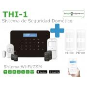 Pack de Alarma SIN cuotas Domótica THI-1 (WiFi + GSM) + 2...