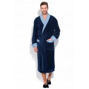 PECHE MONNAIE Классический мужской халат из высококачественного бамбукового волокна синего цвета PECHE MONNAIE №925 Синий