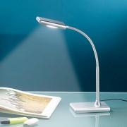 Lunartec LED- Schreibtischlampe 6 W mit Schwanenhals, silbern