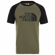 The North Face - S/S Raglan Easy Tee - T-shirt taille S, vert olive/noir