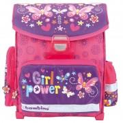 Lekki tornister szkolny dla dziewczynki BAMBINO kwiatki
