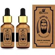 Meralite Organic Beard Oil Pack of 2 Hair Oil (60 ml) (ML-BEARD OIL-B-30ml-PACK OF 2)