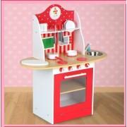 Dětská kuchyňka dřevěná Infantastic KD05 V 90cm červená