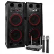 "Electronic-Star Sistema de karaoke ""STAR-Schöneberg"" Altavoces PA 1200W Set de micrófonos inalámbricos VHF de 2 canales (PL-6526-2233)"