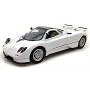 Motor Max Pagani Zonda C12, White - Motormax 73272-1/24 Scale Diecast Model Toy Car