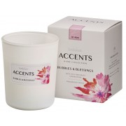 Bolsius Accents scented glass Bubbles & Blessings 92/76