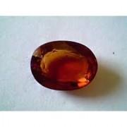 Sobhagya Certified 26.38 Ct Oval Mixed Cut Garnet (hessonite) Gemstone