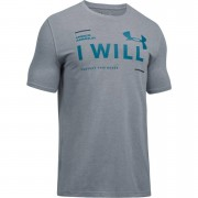 Under Armour Men's I Will T-Shirt - Grey - L - Grey