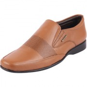 Hush Puppies Men's Premium Leather Tan Formal Slip On Shoes