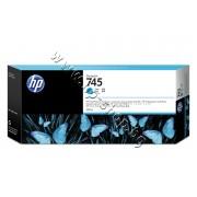 Мастило HP 745, Cyan (300 ml), p/n F9K03A - Оригинален HP консуматив - касета с мастило