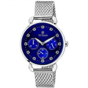 Titan Purple AW-14 Analog Blue Dial Womens Watch -NK95013SM01