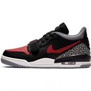 Jordan Nike Air Legacy 312 Low Black/Varsity Rojo Piel, Negro/Rojo Varsity Negro Gris Cemento, 11.5 US