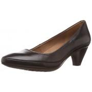 Clarks Women's Denny Mellow Black (Fit D) Leather Pumps - 6 UK