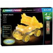 Laser pegs set costruzioni luminose 4 in 1-dump truck, 41014