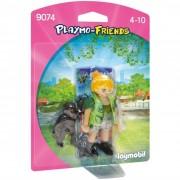 Playmobil assistente zoo con scimmietta 9074