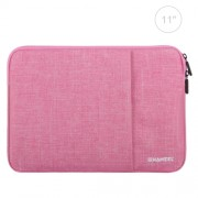 HAWEEL 11 inch Sleeve Case Zipper Briefcase Carrying Bag For Macbook Samsung Lenovo Sony DELL Alienware CHUWI ASUS HP 11 inch and Below Laptops / Tablets(Pink)