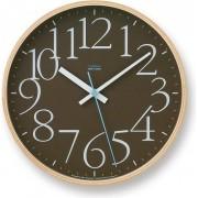 Lemnos Zegar ścienny AY Clock brązowy