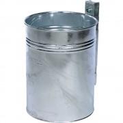 Abfallbehälter Volumen 35 l, HxØ 430 x 330 mm feuerverzinkt