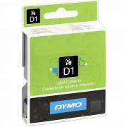 Dymo Standard D1 Tejp 12mm Vitt på transparent