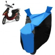 AutoAge Blue with Black Two Wheeler Cover For Yo Electron Yo Bike