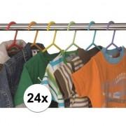 Geen 24x Plastic kinder kledinghangers