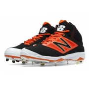 New Balance Mid-Cut 4040v3 Metal Baseball Cleat Black with Orange