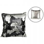 Parlane Two Tone Sequin Cushion (43 x 43cm) - Black/Silver
