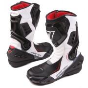 Modeka Speed Tech Motorcycle Boots Black White 40