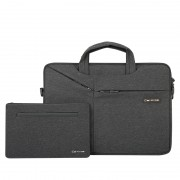 CARTINOE TuYue Series 16-inch Large Capacity Laptop Bag with Small Bag - Black
