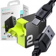 Ładowarka sieciowa Rock Space QC 4.0 USB-C PD 30W 5A black + Kabel Z15 USB-C