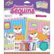 Sensational Sequins Set 2 tablouri cu pisicute