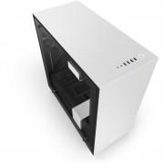 Carcasa H700i Matte White, MiddleTower, Fara sursa, Negru/Alb