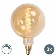 Calex Zestaw 3 x żarówka LED E27 MEGA globe 4W 200lm 2100K ściemnialna