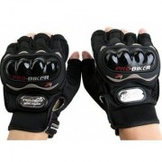 Pro Biker Full Sports Driving Gloves (FREE SIZE BLACK)