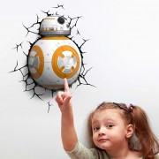 3D Wall Light Star Wars BB8 with LEDs and batteries