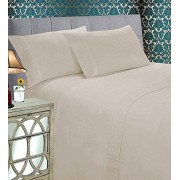 Elegant Comfort ® 39RW-Quilted-Sheet-Twin-Cream Set