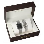 SKYLINE dámská dárková sada hodinky s náramkem MP015
