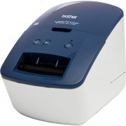 Brother Etikettendrucker »QL-600B«, Blau-Weiß