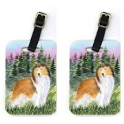 Caroline's Treasures SS8321BT Pair of 2 Sheltie Luggage Tag(Multicolor)
